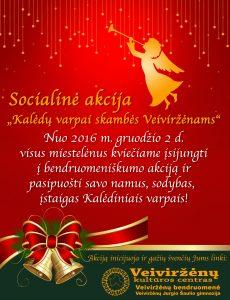 """Socialinė akcija – """"Kalėdiniai varpai skambės Veiviržėnams"""""""